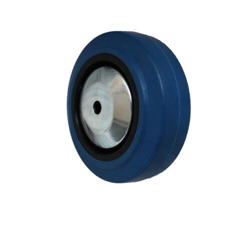 4 pièces 125 mm Blue wheels roulettes de transport roulettes roues fixes