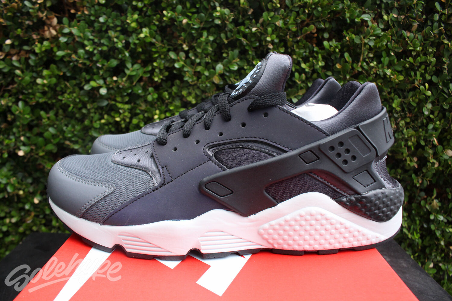Nike Air 8,5 huarache Run Premium SZ 8,5 Air gris oscuro negro reflectante PMR e0674d