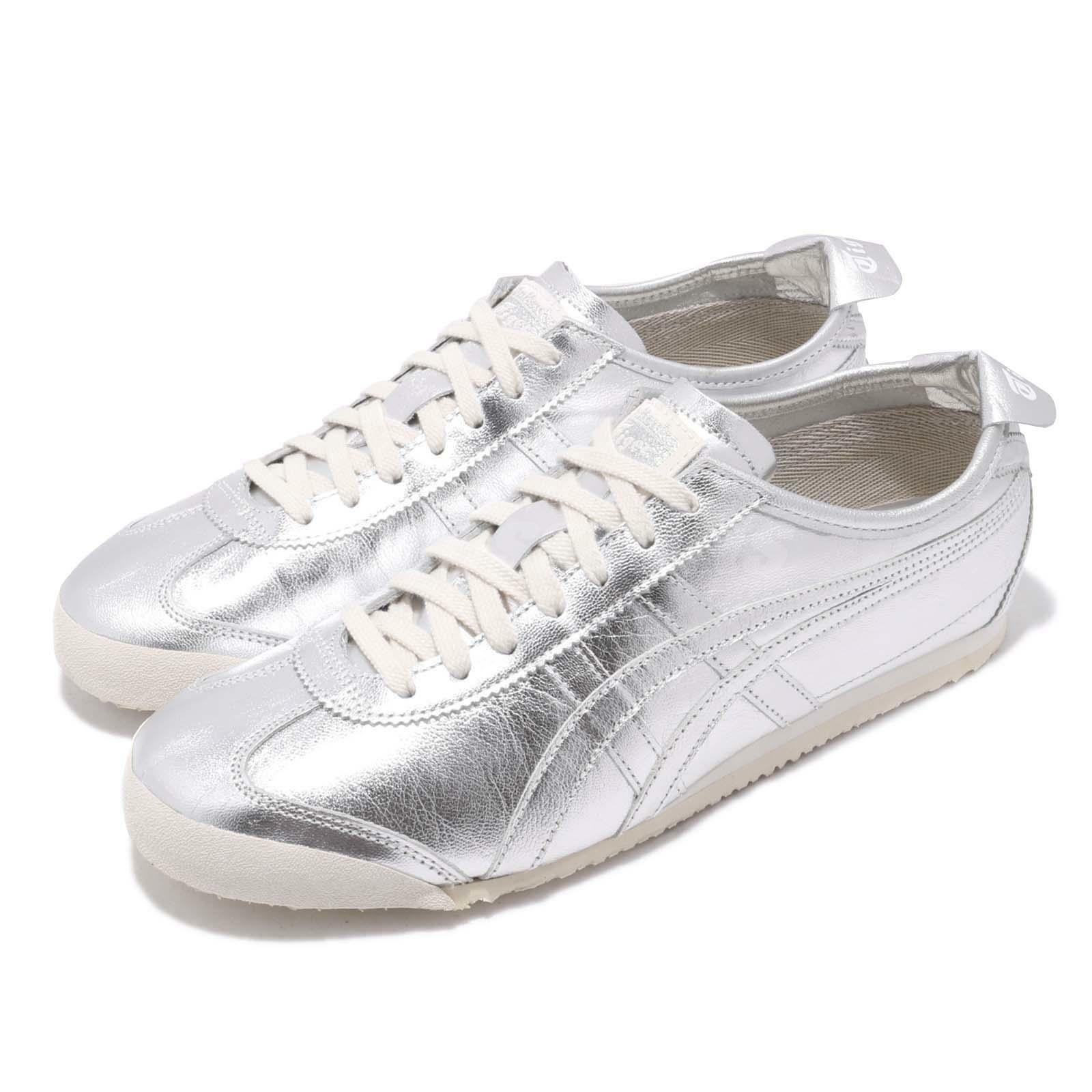 Asics Onitsuka Tiger Mexico 66 plateados para Hombre Running Zapatos TENIS D6G1L-9393