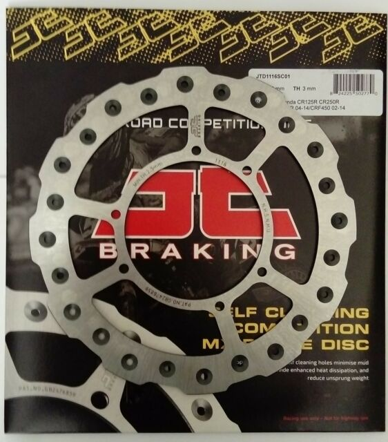 Honda CRF450R (2002 to 2014) JT Brakes Self Cleaning 240mm FRONT Wavy Brake Disc
