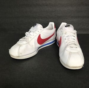 Nike-Women-039-s-Classic-Cortez-Leather-White-Varsity-Red-Shoes-807471-103-Size-9