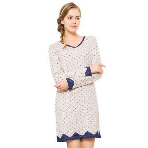 Sleep Shirt Cotton Night Dress Pajama Tops Casual Nightie Home-wear ... 900f3af93