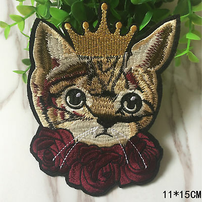 1Pc Cute Cat Patch For Clothing Iron on Embroidered Sew Applique DIY AU STOCK