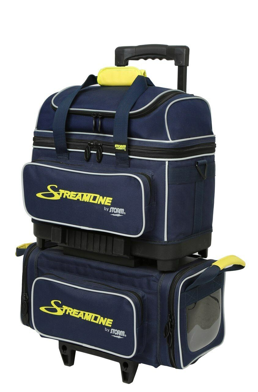 Storm Streamline 4 Ball Roller Bowling Bag Navy Grey Yellow