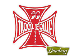 """Mooneyes Red Iron Cross Decal Sticker Stickers Maltese Equipped 1.5"""" VW Camper"""