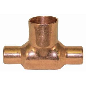 1 X 1 X 1 1 2 Inch Cxcxc Bull Head Reducing Copper Tee Plumbing Fitting Ebay
