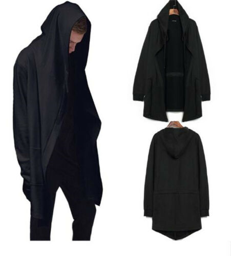 The Death Notice Wizard Cosplay Costume Long Windbreaker Black Coat Hoodies Tops