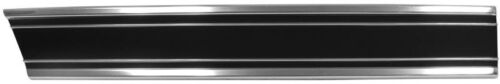 1969-72 Chevy Pickup Front Bedside Short Bed Molding Lower w// Clips Black-RH Dii