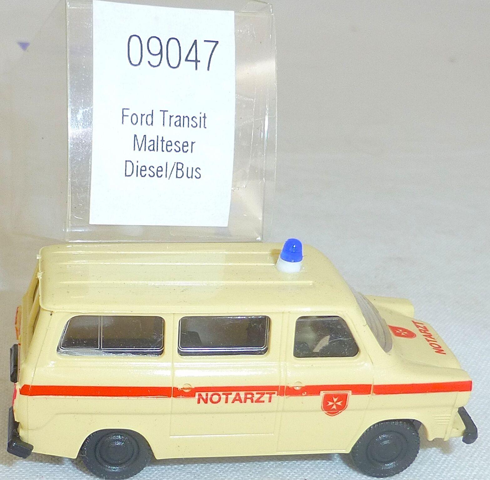 Maltés Ford Transit Ambulancia Diésel Imu Euromodell 09047 H0 1 87 Emb.orig