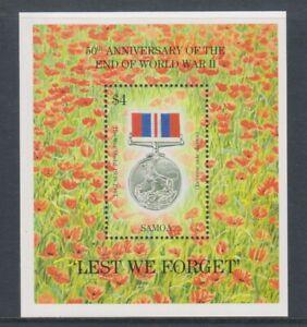 Samoa - 1995, Anniversary of WWII sheet - MNH - SG MS965
