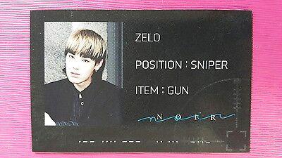BAP B.A.P ZELO Official Photocard NAME CARD Ver NOIR 2nd Album JUN HONG 젤로