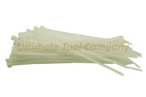 """50 LB Heavy Duty 8/"""" Long Natural Cable Zip Ties Organize Ty Wraps 100 Pc Set"""