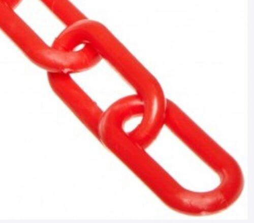 "PLASTIC CHAIN 8MM 2/"" PLASTIC CHAIN 50/' PER BAG RED"