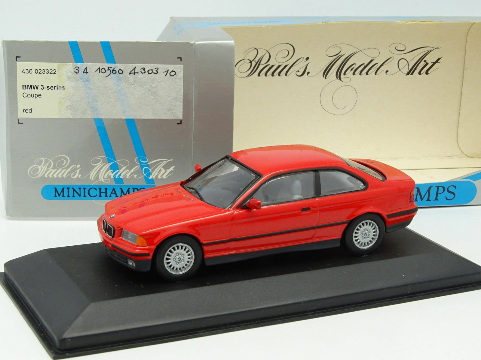Minichamps 1 43 - BMW serie 3 e36 taza de rojo