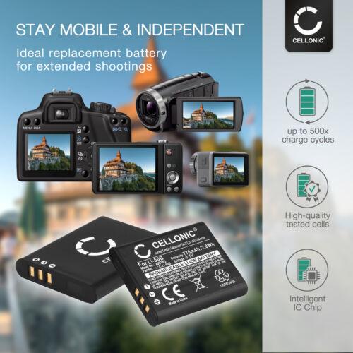 Batería 2x para la richo wg-30w theta V cx4 wg-5 GPS wg-30 px wg-4 wg-20 770mah