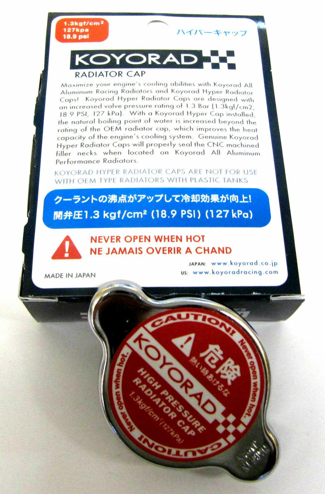 FIT ALL KOYO RADIATORS 18.85PSI KOYO RACING RADIATOR HYPER CAP SK-C13 1.3BAR