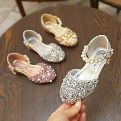 Infant Baby Princess Shoes Kids Girls Fashion Flats Shoes Party Wedding Dance