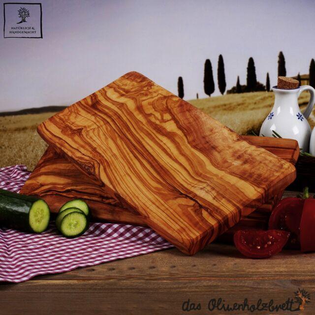 2 x 2. Wahl Olivenholz Frühstücksbretter Brotzeitbretter Schneidbretter 25x15cm