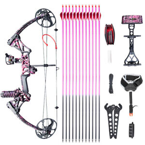 Archery-Compound-Bow-Hunting-Target-Right-Hand-10-50lbs-for-Women-Girls-Youth