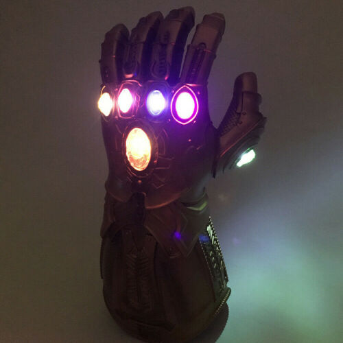 UK Avengers Infinity War Infinity Gauntlet LED Light Thanos Gloves Cosplay Prop