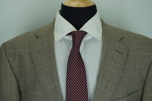 Ermenegildo-Zegna-Heritage-Gray-Blue-Glen-Check-Plaid-Roma-Fit-2-Piece-Suit-44L