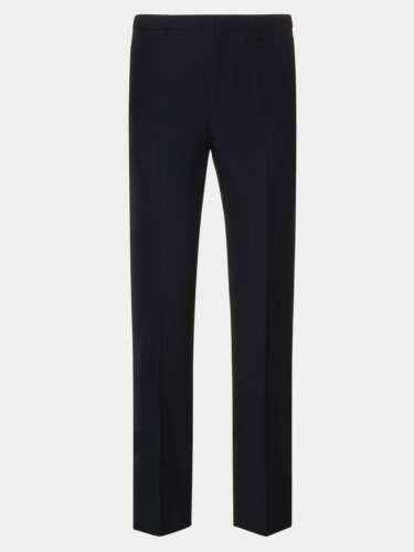 Slim Fit Boys Men Black And Navy Skinny Leg School Trousers Pants Grip Waistband