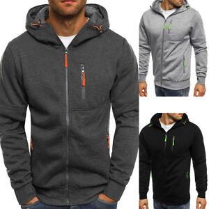 Mens-Winter-Fleece-Hoodie-Warm-Hooded-Sweatshirt-Coat-Jacket-Zip-Outwear-Sweater