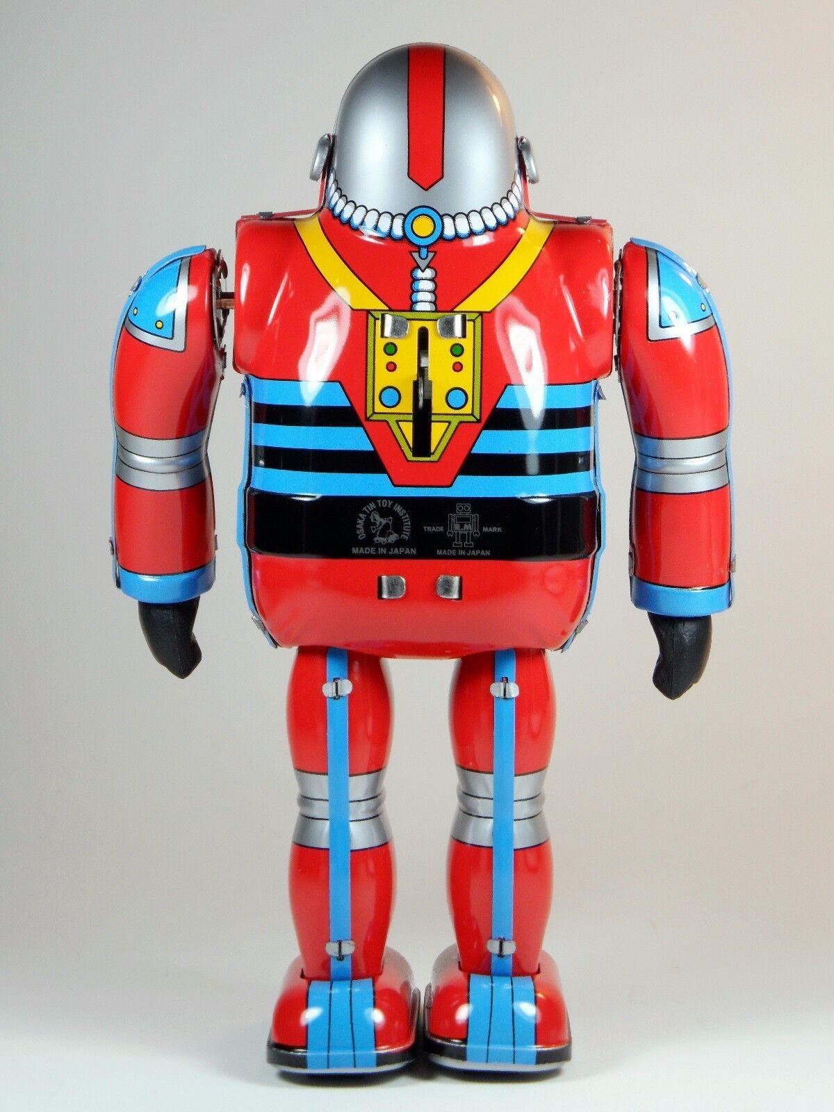 Astronauta japonés Juguete De Hojalata Litografiada Coleccionistas Juguete Nuevo en Caja Osaka Estaño Juguete Inst.