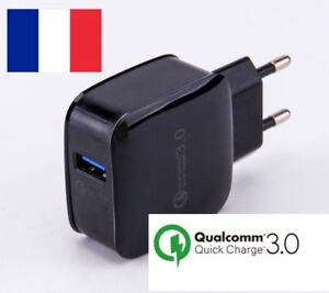 CHARGEUR-RAPIDE-QUICK-CHARGE-QUALCOMM-3-0-SAMSUNG-SONY-HTC-APPLE-LG-3A-18W