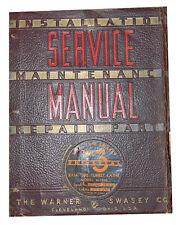 Warner Amp Swasey No 3 Turret Lathe Service Instructions Amp Parts Manual 1941