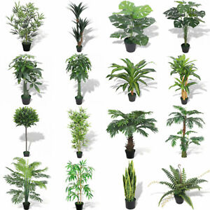 Artificial-Fake-Green-Tree-Green-Plant-Pot-Indoor-Garden-Plants-Flower-Decor-New