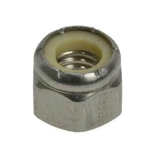 6-32 UNC Hex Nyloc Nut - Stainless Steel Imperial Coarse Grade 304