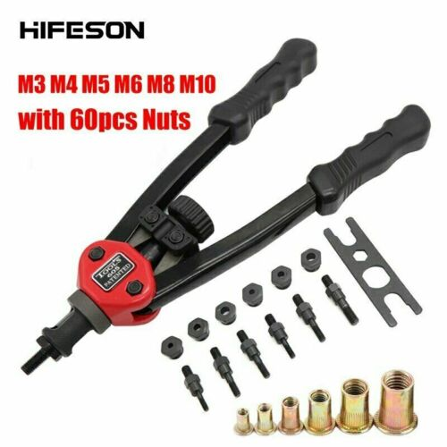 50//60 Nuts M3-M10 Hand Threaded Premium Automatic Rivet Tool Riveter Gun steel