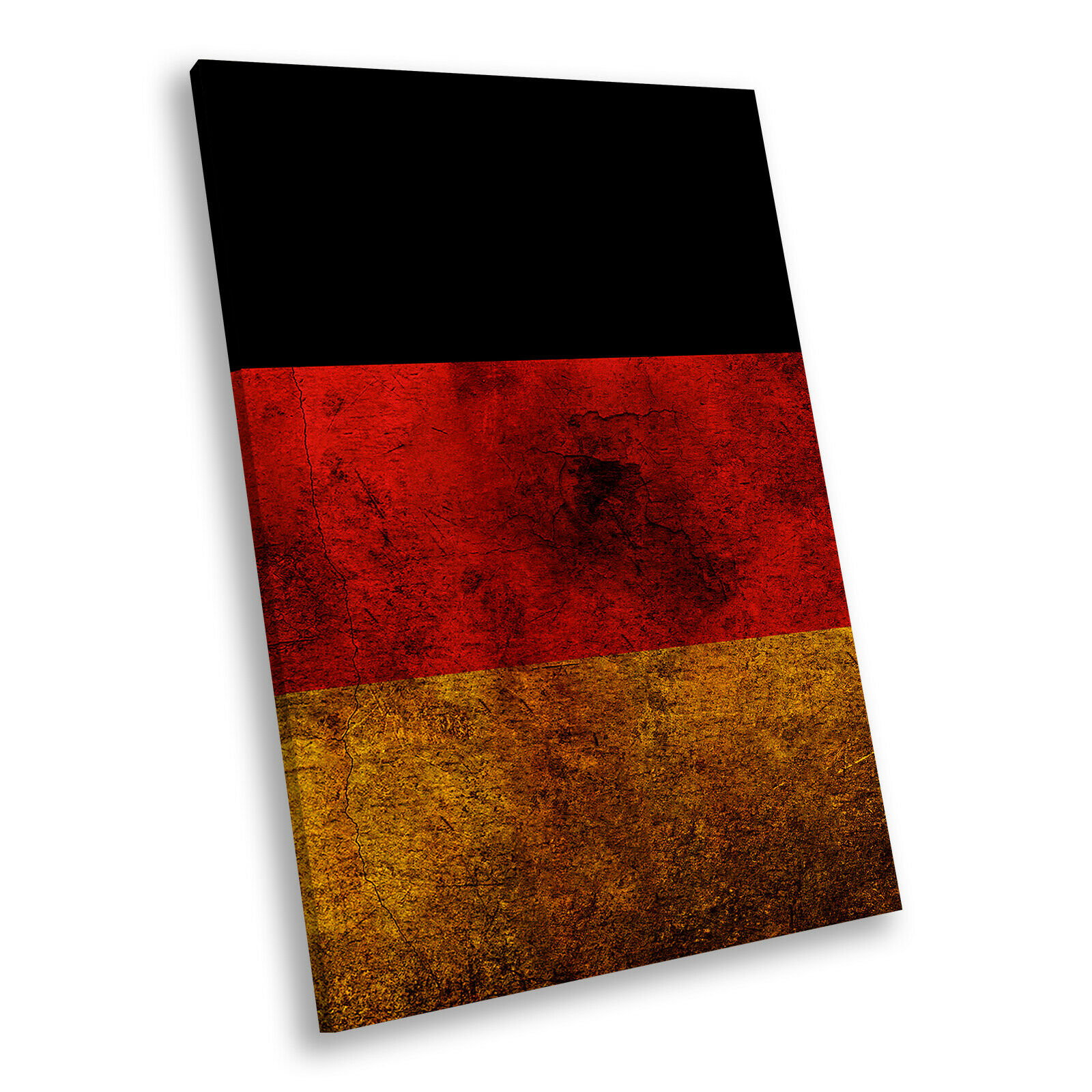 German Flag Retro Portrait Abstract Canvas Wall Art Large Picture Prints