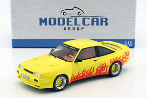 Opel-Manta-B-Mattig-Year-1991-Yellow-Orange-1-18-Model-Car-Group