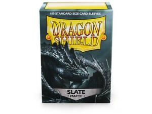 Matte Slate 100 ct Dragon Shield Sleeves Standard Size FREE SHIPPING! 10% OFF 2+