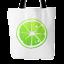 """Mother/'s Day Lemon Orange or Lime Slice Design on 18/""""x18/"""" Lined Tote Bag"""