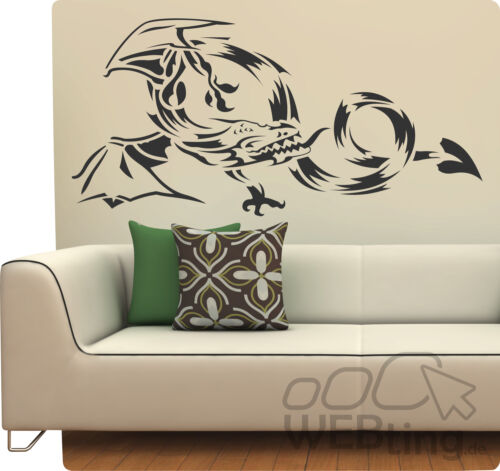 Dragon Dragon mural murale murale autocollant tatouage bannière Mur 16