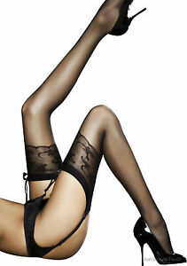 Fiore-Jordana-Sheer-Stockings-20-DEN-Colours-Black-White-Grey-Tan-SIZE-S-L-NEW
