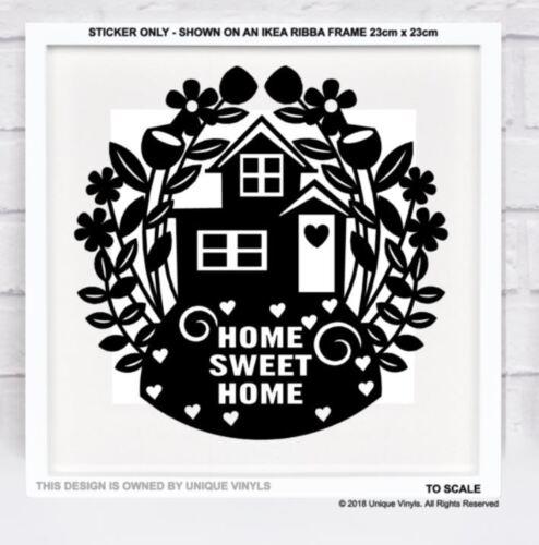 Hogar dulce hogar Pegatina De Vinilo Para hágalo usted mismo Regalo de Marco de Ikea Ribba Caja Nuevo Hogar Regalo