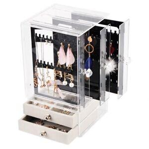 Nouveau-Acrylique-Bijoux-Organisateur-BoiTe-pour-Collier-PreSentoir-de-Q2I6