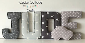 Fabric-letters-Wall-Art-Handmade-Padded-Nursery-name-personalised-baby