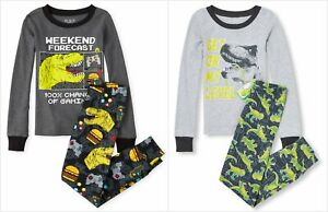NWT-The-Childrens-Place-Boys-Glow-In-The-Dark-Dinosaur-Video-Games-Pajamas-Set