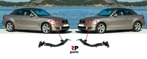 BMW 1 SERIES E88 07-13 E82 12-13 FRONT HEADLIGHT HOLDER BRACKET PAIR SET