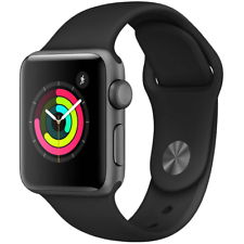 Apple Watch Series 3 42mm GPS Space Gray Aluminum Black Sport Band MQL12LL/A