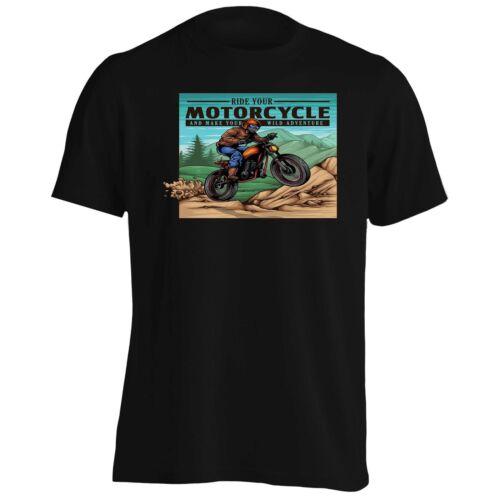 La aventura salvaje de la motocicleta para Hombres Camiseta//Camiseta sin mangas ee549m