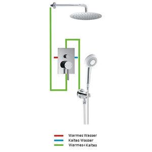 das bild wird geladen unterputz armatur dusche regendusche regenbrause dusche kopfbrausen gianni23 - Dusche Unterputz Armatur Hohe
