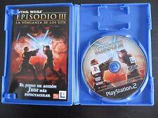 STAR WARS EPISODIO III LA VENGANZA DE LOS SITH PAL ESPAÑA PS2
