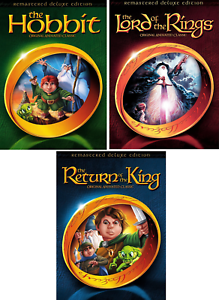 The Hobbit, Lord of the Rings, Return of the King Animated Classics -NEW DVD Set