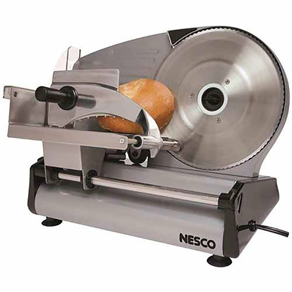 Meat Slicer Electric Vegetable Deli Cutting Stainless Steel Slicing Kitchen Home